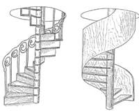 Внешний вид винтовых лестниц